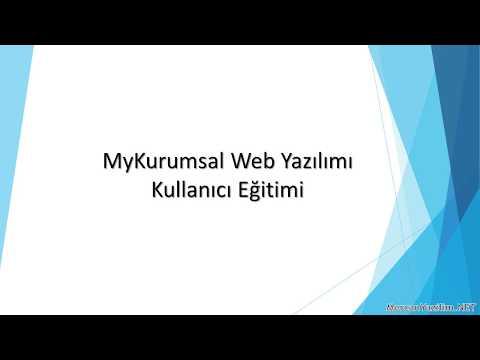 MyKurumsal Web Yazılımı Kullanıcı Eğitimi