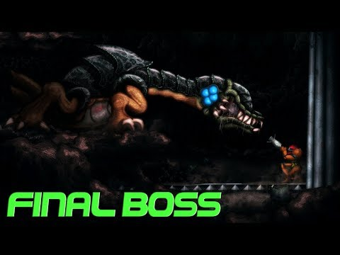 AM2R Another Metroid 2 Remake Metroid II Return of Samus Final Boss Metroid Queen and Ending HD1080p
