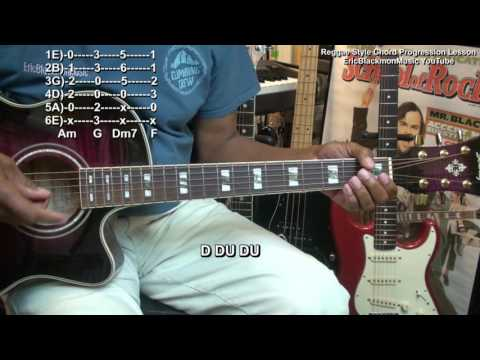 Easy Reggae Guitar Chord Progression Lesson Tutorial EEMusicLIVE