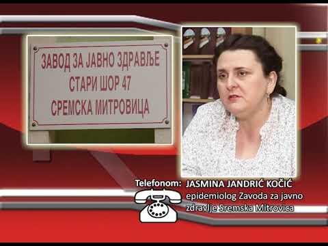 FONO:  Jasmina Jandrić Kočić - Epidemioloska situacija u  Sremu