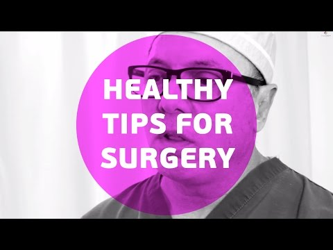What are the healthy tips to get ready for surgery?