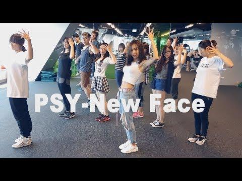 PSY-New face   舞蹈&數拍教學-3 到副歌完後   Chueh minnie (mirrored)