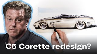 Redesigning The Soft Lines Of The Chevrolet C5 Corvette | Chip Foose Draws A Car - Ep. 2