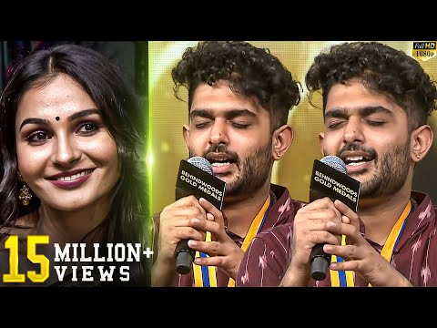 Sid Sriram Live Performance!! - Andrea's Reaction - You Will Watch In Repeat Mode!! - BehindwoodsTV