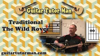 The Wild Rover - Traditional - Acoustic Guitar Lesson - (easy)
