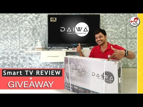 DAIWA 49″ 4K UHD ANDROID SMART TV REVIEW + Giveaway | Tamil Tech