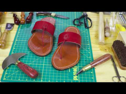 Leather: Vegetable-tanned Leather Sandals