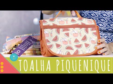Aprenda a costurar bolsa toalha de piquenique Descomplica!