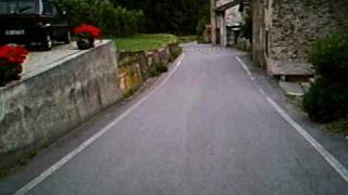 preview picture of video 'Passo Mortirolo, descending the steep side to Mazzo #4/4 cycling'