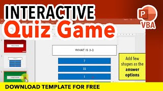 How to create an interactive quiz game in PowerPoint Tutorial