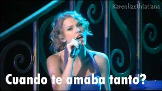 Dear John - Taylor Swift en vivo traducida en español