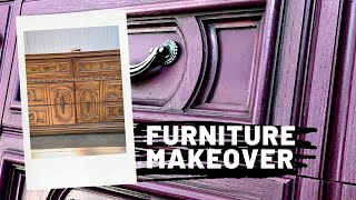 Dresser Makeover | How to apply black wax | How to update your old Handles| Furniture Makeover