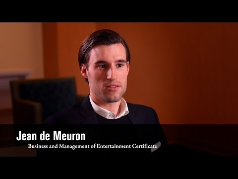 Business & Management of Entertainment Alum Jean de Meuron on UCLA Extension Instructors