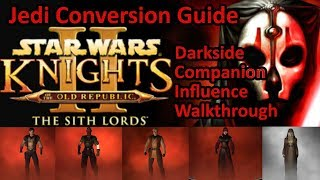 Star Wars KOTOR 2 Jedi Companion Influence Guide | Darkside Jedi Walkthrough Atton Bao Dur Desciple