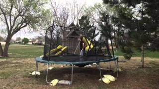 Trampoline Double Backflip Fail
