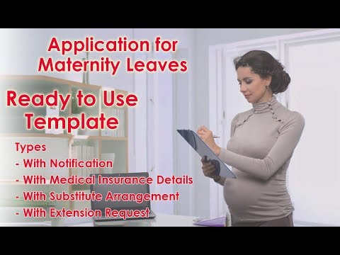 How To Write Application For Maternity Leaves For Office/School