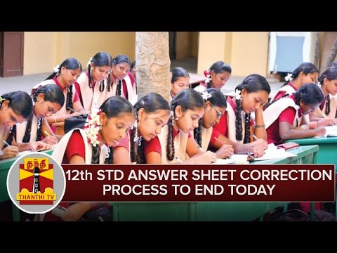 12th-Standard-Answer-Sheets-Correction-Process-To-End-Today--Thanthi-TV