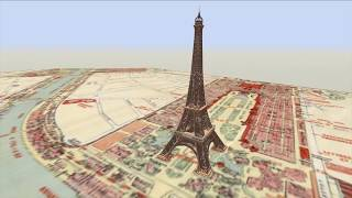 Eiffel Tower: Animated Construction Timelapse