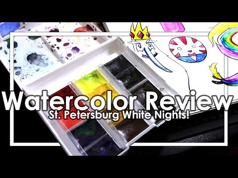 St Petersburg White Nights Watercolor Review! +adventure time doodles