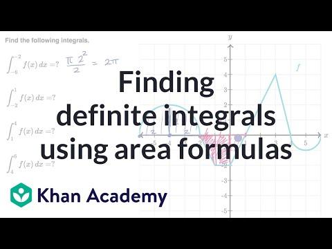 Finding definite integrals using area formulas (video) | Khan Academy