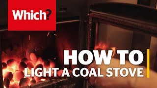 How to light a coal stove