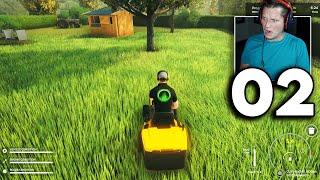 Lawn Mowing Simulator - Part 2 - THE BIGGEST YARD