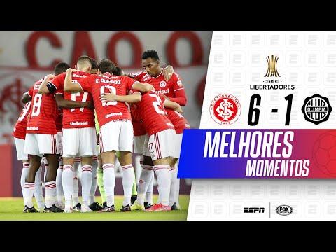 MASSACRE COM GOLAÇO DE BICICLETA! Internacional 6 x 1 Olimpia na Libertadores   Melhores Momentos