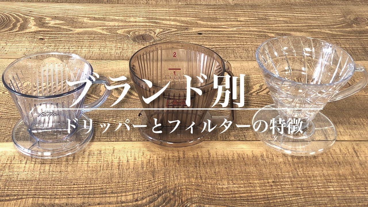 ブランド別・コーヒードリッパーとフィルターの特徴