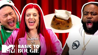$15 Spotted Dick & Cinnamon Roll Cheesecake ft. Justina Valentine | Basic to Bougie: Season 4 | MTV