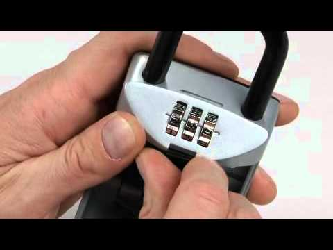 Screen capture of Operating the Master Lock 5406D SafeSpace® Portable Lock Box