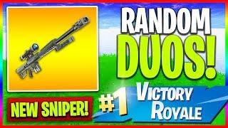 "🔴 NEW ""Heavy Sniper"" Soon! // Random Duos (Fortnite LIVE Gameplay)"