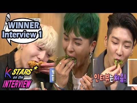 [CONTACT INTERVIEW★] WINNER Members Playing Mission Games Over Late-night Snacks 20170423