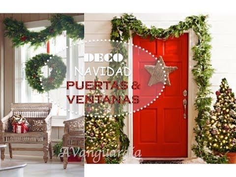 Navidad 2018 ideas para decorar puerta y ventana en for Decoraciones navidenas de puertas y ventanas