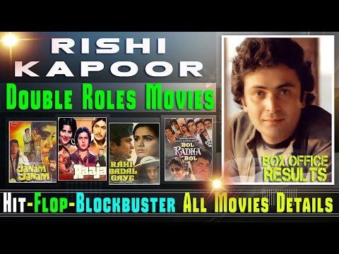 Rishi Kapoor Double Role Movies List | Box Office Results | Rishi Kapoor Movies Hit and Flop Movies