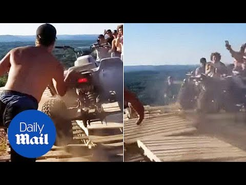 Surprise! ATV Rams Into Crowd After Failing To Launch Off Cliff - Daily Mail