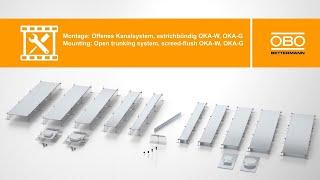 Montage estrichbündiges offenes Kanalsystem OKA – OBO Bettermann