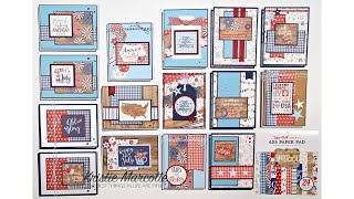 Echo Parks America - 29 Cards From One 6x6 Paper Pad