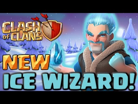 Video Clash of Clans NEW Troop ICE WIZARD! Clashmas Gift #3 Attacks and Gameplay