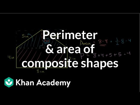 Perimeter area of composite shapes video khan academy ccuart Image collections