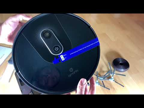 Saugroboter - Staubsauger Roboter amarey A900 Beutellos App Selbstaufladung Unboxing und Anleitung