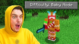 I Played Minecraft BABY MODE