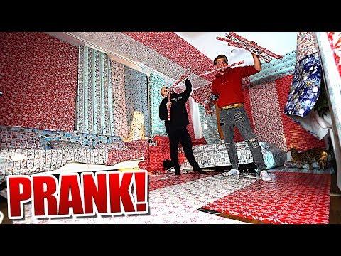Geschenkpapier Extrem PRANK! (in Jans Zimmer)