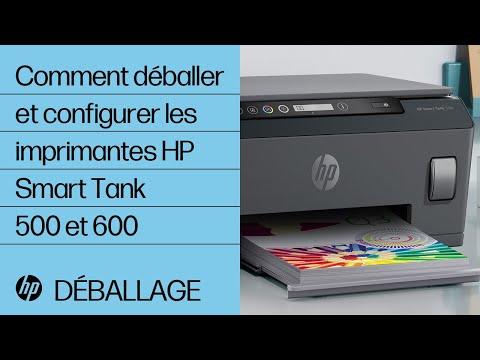 Comment déballer et configurer les imprimantes de la gamme HP Smart Tank 500 et 600