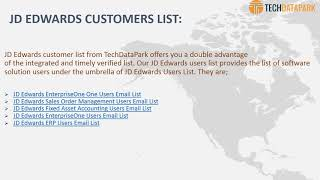 How To Get Best Deliverable Email List Of JD Edwards Software Users