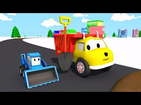 Die matschige Strasse: lerne Farben mit Ethan dem Kipplaster | Lehrreiche Cartoons für Kinder