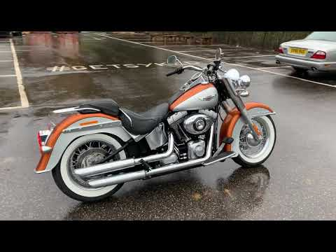 2014 Harley-Davidson FLSTN Softail Deluxe in Amber Whiskey and Brilliant Silver