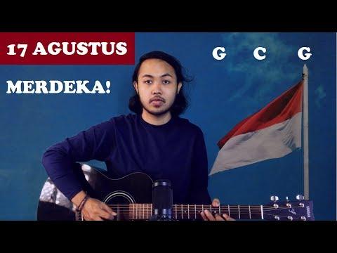 Chord Gampang (17 AGUSTUS) LAGU NASIONAL by Arya Nara (Tutorial Gitar) Untuk Pemula