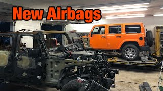 Rebuilding a Wrecked 2013 Jeep Wrangler jk part 6 New Airbags