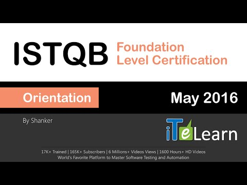 ISTQB Foundation Level Certification Orientation Session - YouTube