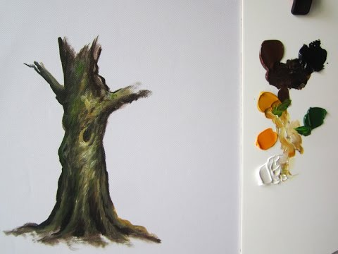 How to paint a tree trunk lesson 1